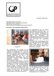 Rundbrief März 2005 - Gymnasium Altenholz