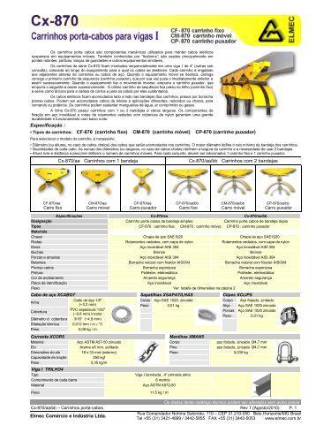 Cx-870 - Elmec Comércio e Indústria Ltda