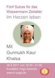 Flyer als PDF zum Herunterladen - Kundalini Yoga Zentrum München