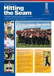 Hitting the Seam - Ecb - England and Wales Cricket Board