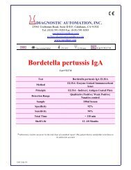 Bordetella pertussis IgA - Diagnostic Automation : Cortez Diagnostics