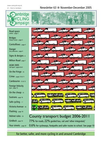 Cambridge Cycling Campaign - Newsletter 63