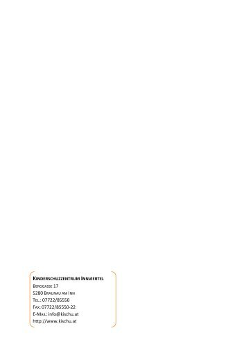 Jahresbericht 2010 - Kinderschutzzentrum Innviertel