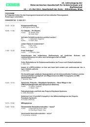 Programm als PDF - Österreichische Gesellschaft für Endokrinologie ...