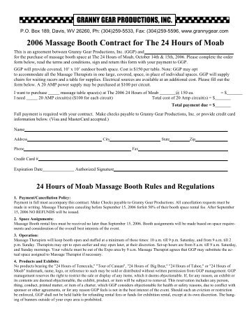 massage contract 04m granny gear productions