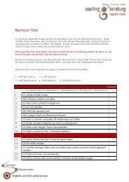 Downloaden Burnout-Test - Coaching & Beratung Reginald Müller