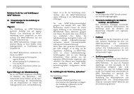 Faltblatt Ausbildungsrichtlinien Mai 2013 - NFP- Zentrum Leipzig