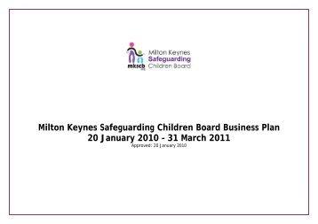 Milton Keynes Safeguarding Children Board Business Plan 2009 ...