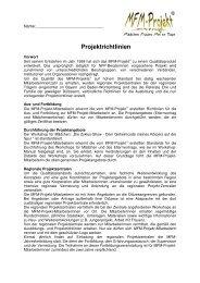 Projektrichtlinien 2004 Endfassung - NFP- Zentrum Leipzig