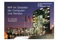 Prof. Dr. Günter Freundl: NFP im Zeitalter der Computer und Handys