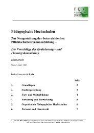 Pädagogische Hochschulen - Steirische Volkswirtschaftliche ...