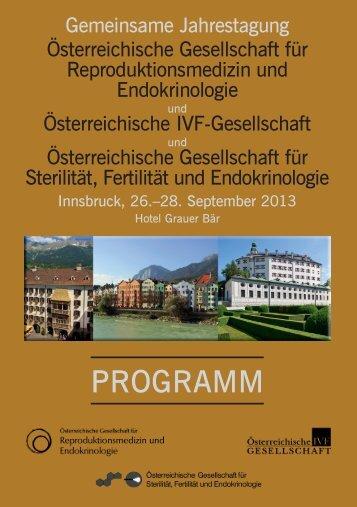 programm - Österreichischen Gesellschaft für Reproduktionsmedizin