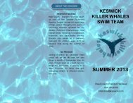 2013 Swim Team - Keswick Club