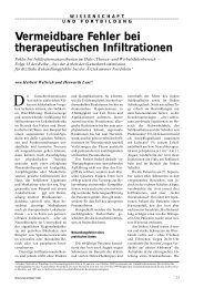 Vermeidbare Fehler bei therapeutischen Infiltrationen