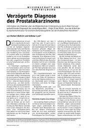 Verzögerte Diagnose des Prostatakarzinoms - Ärztekammer Nordrhein