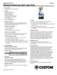 Nettoyant lustrant pour pierre Aqua Mix® - Custom Building Products