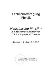 Fachschaftstagung Physik Medizinische Physik - - Cusanus.net