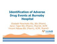 Identification of Adverse Drug Events at Burnaby Hospital