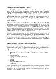 Bilaterale Abkommen I und II Schweiz-EU