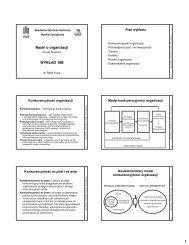 część IIIB - Wydział Zarządzania