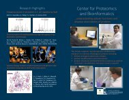 Download our brochure - Center for Proteomics and Bioinformatics