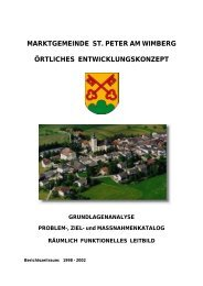 Örtliches Entwicklungskonzept - Marktgemeinde St. Peter am Wimberg