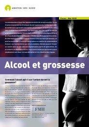 Flyer Alcool et grossesse