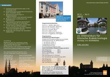 2012 XV. Intensivkurs für Klinische Endokrinologie