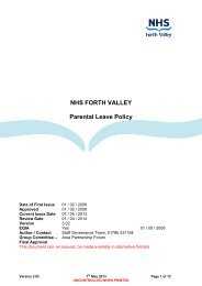 NHS FORTH VALLEY Parental Leave Policy