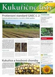 Kukuřice a houbové choroby - VP Agro