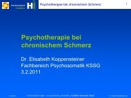 Psychotherapie bei chronischem Schmerz - Fosumos