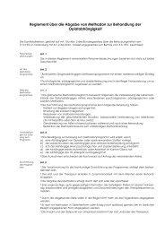Reglement über die Abgabe von Methadon zur ... - Fosumos