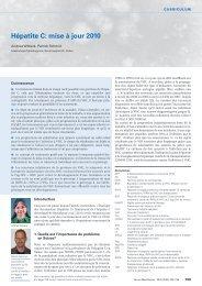 Hépatite C: mise à jour 2010 - Swiss Medical Forum