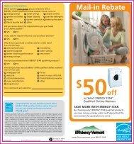 Mail-in Rebate - Efficiency Vermont