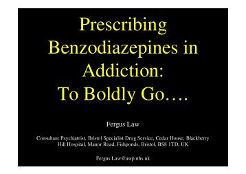 Prescribing Benzodiazepines in Addiction: To Boldly Go…. - SMMGP