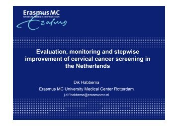 Evaluation, monitoring and stepwise improvement of cervical cancer ...
