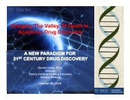 Bridging The Valley Of Death In Academic Drug Discovery