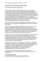 Information für l/b/t Klientinnen in der Psychotherapie