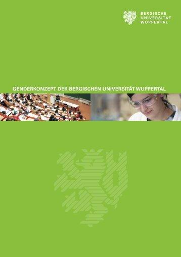 Genderkonzept - Gleichstellung.uni-wuppertal.de - Bergische ...