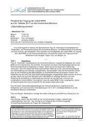 Protokoll der Tagung der LaKof NRW am 05. Oktober 2011 an der ...