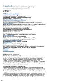 Newsletter Nr. 05/2007 - LaKof NRW