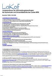Newsletter Nr. 05/2009 - LaKof NRW