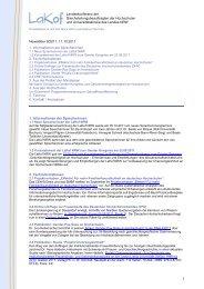 Newsletter Nr. 9/2011 - LaKof NRW