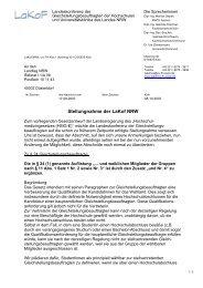 Stellungnahme der LaKof NRW zur Anhörung zum Entwurf des ...