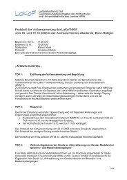 Protokoll der Vollversammlung der LaKof NRW vom 18. und 19.10 ...