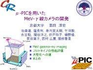 京都大学でのμ-PIC各種応用 μ-PICを用いたMeV-γ線カメラの開発