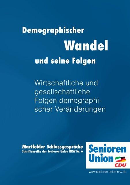 Wirtschaftliche und gesellschaftliche Folgen demographischer ...