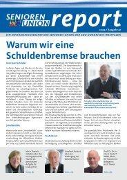 Warum wir eine Schuldenbremse brauchen - Senioren-Union NRW