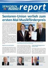 Senioren-Union Report Nr. 33 / 2008 - Senioren-Union NRW