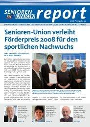 Senioren-Union Report Nr. 34 / 2008 - Senioren-Union NRW
